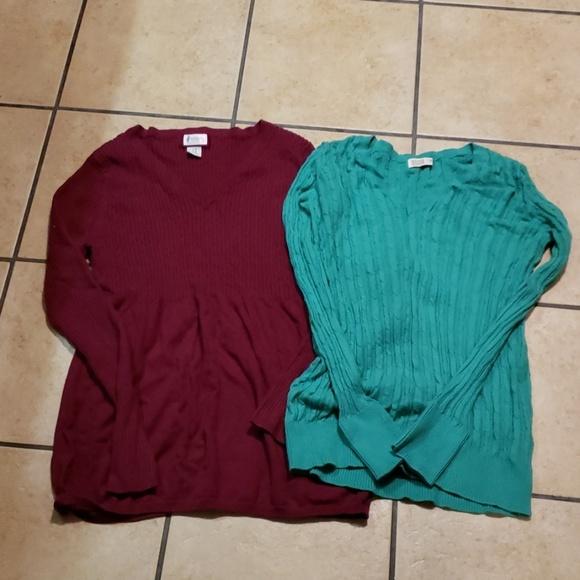 Motherhood Maternity Sweaters - Maternity sweaters Lot of 2